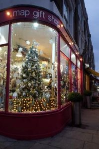 """Ian Morris: co-owner of Map Gift Shop: """"Christmas is our busiest time but then it's Valentines, Mother's Day and Easter. Summer is probably our least busy time – however tourist trade can be good."""" (c) Map Gift Shop"""
