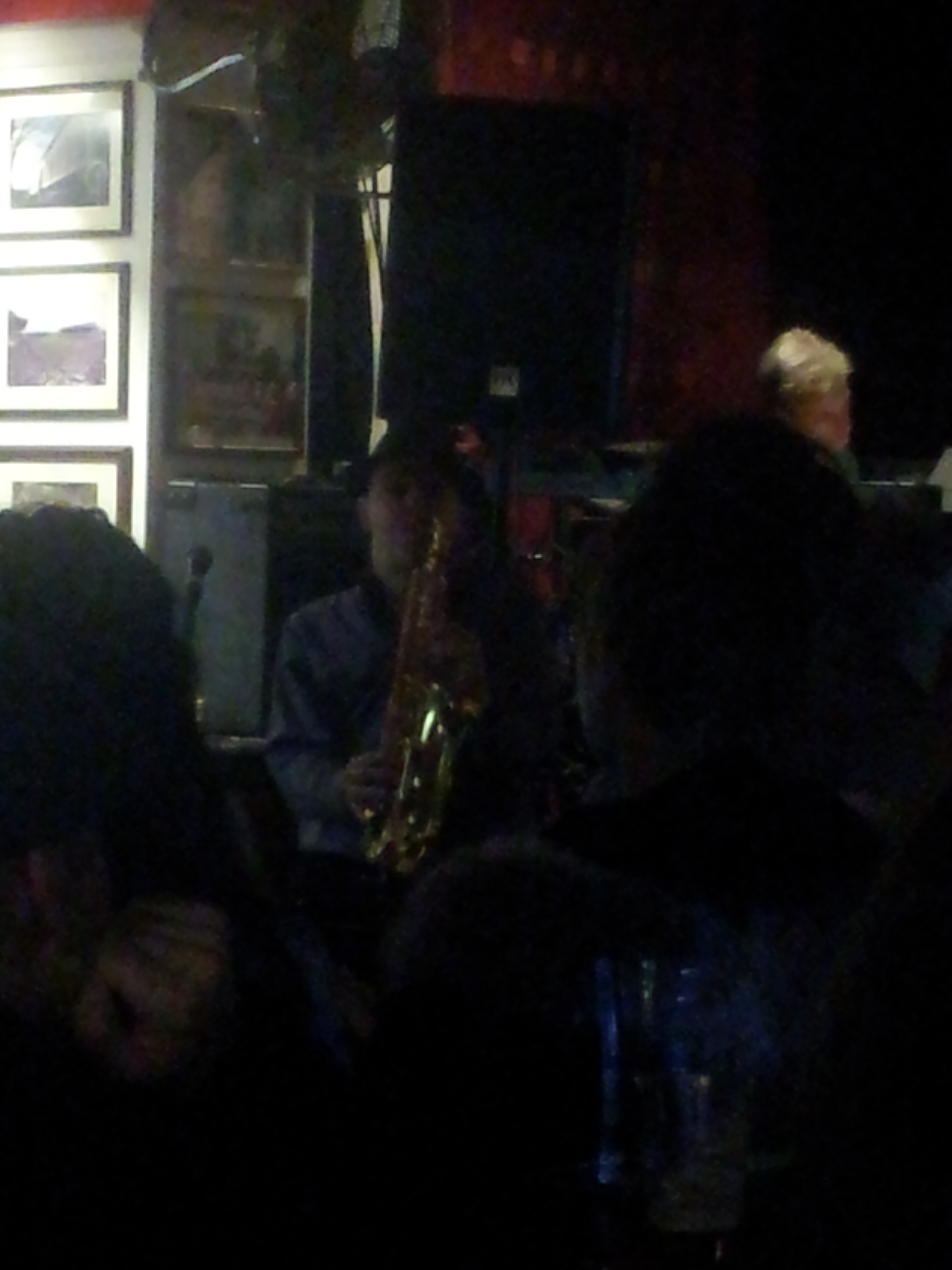 Dan Spanner in action with the Spanner Big Band at The Gunners pub.