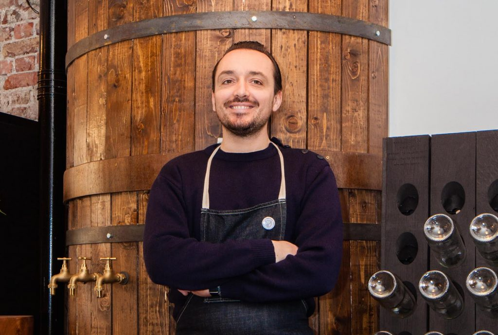 "Maxence Masurier in his new French wine shop Made In Little France: ""It's my dream to be here. I love London and I love Islington where I now live."""