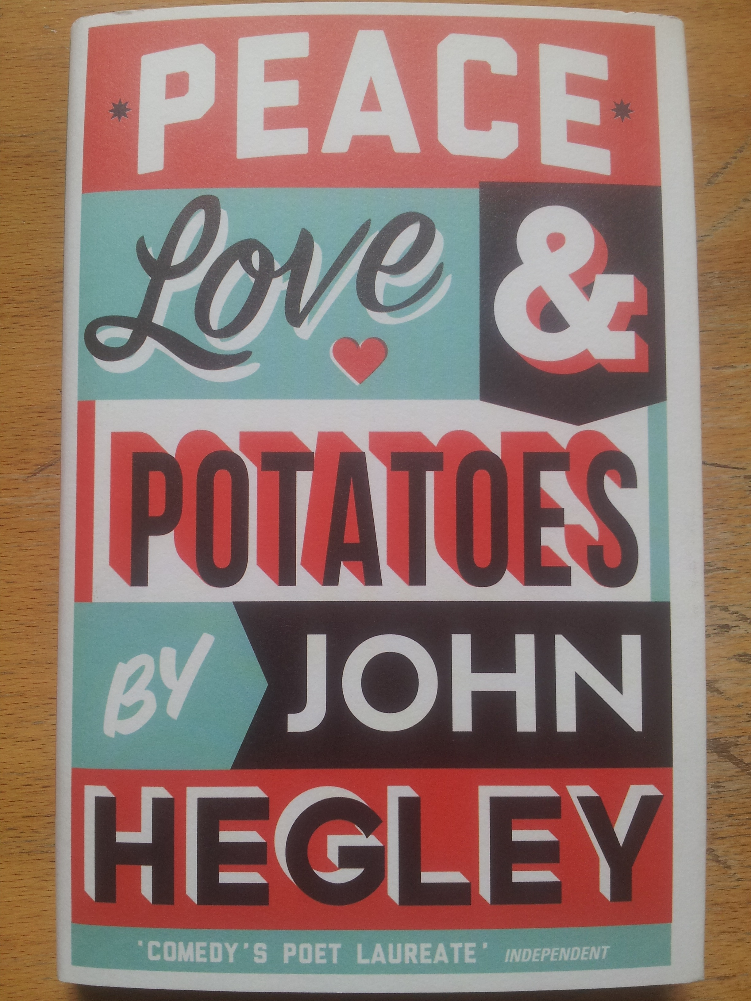 Gig to go to on 5 June: Peace Love & Potatoes by John Hegley will feature, along with folk music and Northern soul at Stoke Newington Town Hall during the StokeyLitFest (3-5 June).