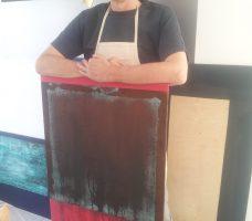 Jonathan Davis: artist and owner of Lumen Studios off Seven Sisters Road. (c) islington faces blog