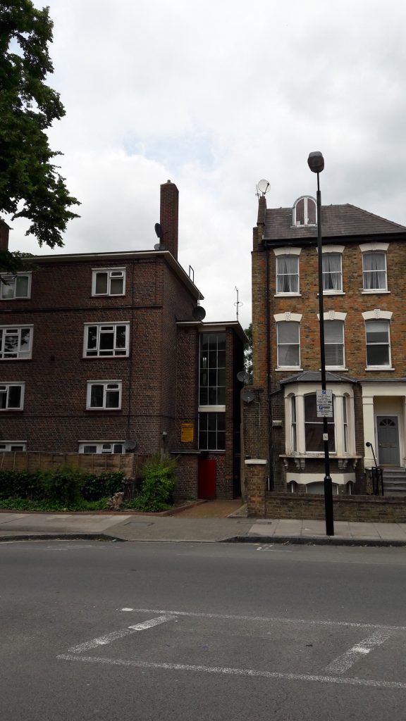 There's a clear gap where Gladys' home on Drayton Park used to be - until it was bombed early during WW2. (c) islington faces