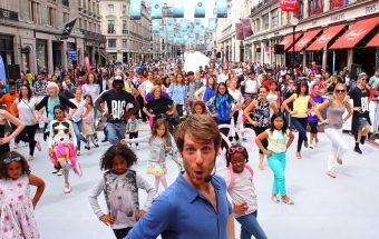 MoveMe lead by Bert Roman in Regent Street. Credit: Scott Johnston