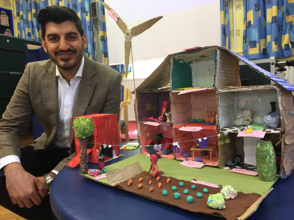 """Charlie Perdios: """"The children at Gillespie are really passionate about Lab13. They are innovative and that fits in to the ethos of our company which is why when they needed external funding Anthony Pepe helped out."""""""