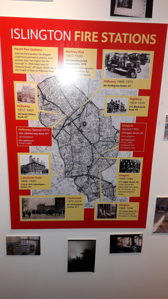 Go and have a look at Islington Burning - an exhibition at the Islington Museum which displays modern and very old information about local fire fighters