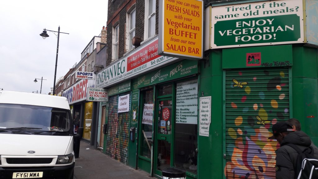 The all-you-can-eat Indian buffet on Chapel Market is an Islington institution - and had a makeover autumn 2016. (c) islington faces