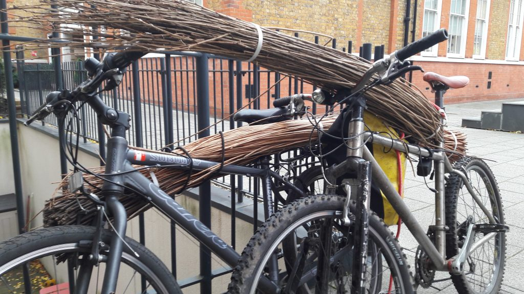 Bikes spotted in Islington carrying basket weaving materials (!). (c) islington faces