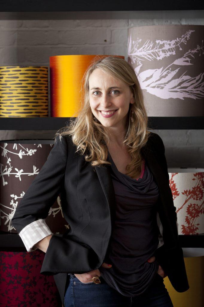 Clarissa Hulse, textile designer at her studio. (c) islington faces